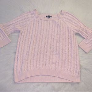 American Eagle Outfitters Baby Pink Knit Sweater